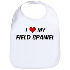 I Love: Field Spaniel Bib