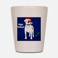 ornament_americanbulldog Shot Glass