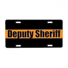 Deputy Sheriff Aluminum License Plate
