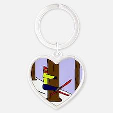 treehugger_white Heart Keychain
