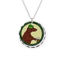 irish_setter_lager Necklace Circle Charm