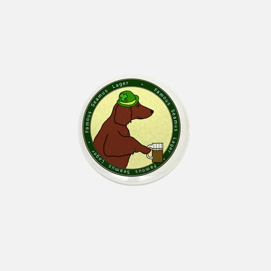 irish_setter_lager Mini Button