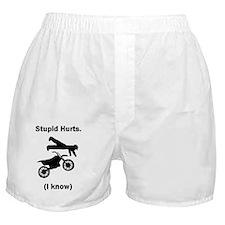 Stupid Hurts Large Boxer Shorts