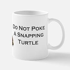 donotpokesnappingturtle_white Mug