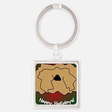 pekingese_fuzzy_ornament Square Keychain