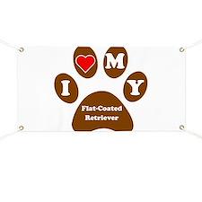 I Heart My Flat-Coated Retriever Banner