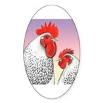 Delaware Fowl Oval Sticker