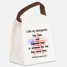 talldarkdeported Canvas Lunch Bag