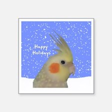 "ornament_cinpearlcockatielp Square Sticker 3"" x 3"""