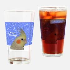 ornament_cinpearlcockatielpainting Drinking Glass