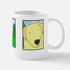 comicstrip_yellowlab_black Mug