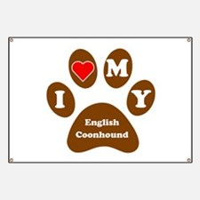 I Heart My English Coonhound Banner