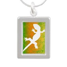 colorful_gecko_journal Silver Portrait Necklace