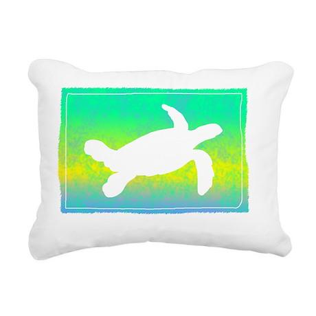 colorful_turtle Rectangular Canvas Pillow