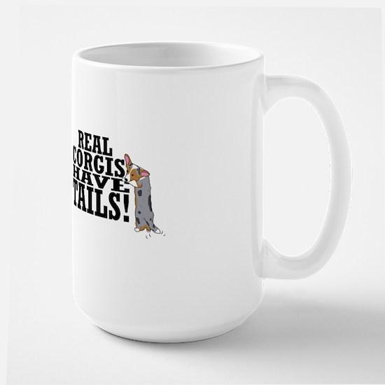 real_corgis_tails_mug Large Mug