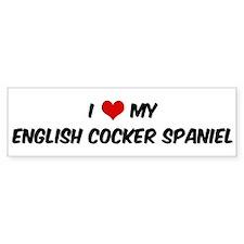 I Love: English Cocker Spanie Bumper Bumper Sticker