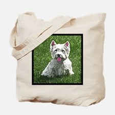westie_painting_tilebox Tote Bag