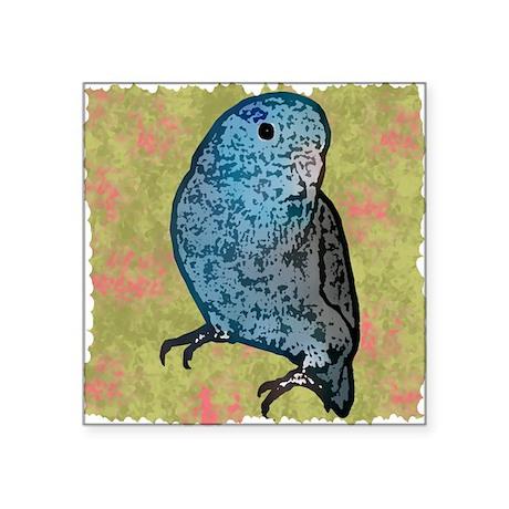 """parrotletblue 10x10 Square Sticker 3"""" x 3"""""""