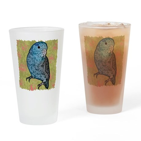 parrotletblue 10x10 Drinking Glass