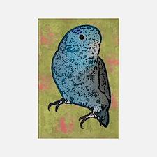 parrotletblue card Rectangle Magnet