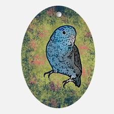 parrotletblue_journal Oval Ornament