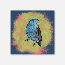 """parrotletblue ornament Square Sticker 3"""" x 3"""""""
