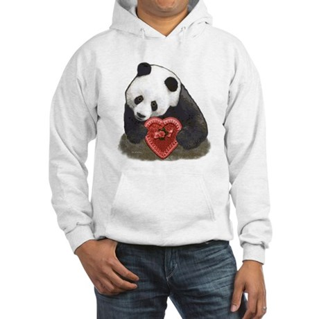 """Panda with a heart"" Hooded Sweatshirt"