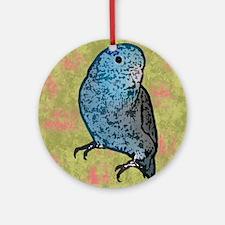 parrotletblue_mousepad Round Ornament