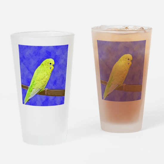 budgie1_button Drinking Glass