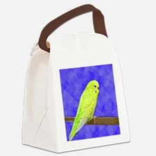 budgie1_button Canvas Lunch Bag