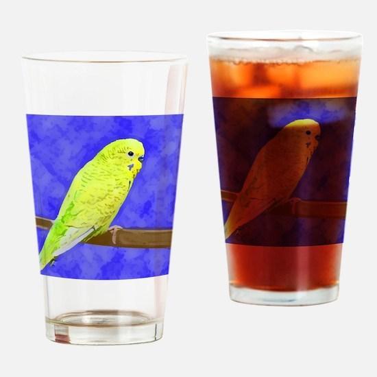 budgie1_shirt Drinking Glass