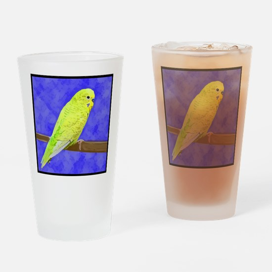 budgie1_tile Drinking Glass