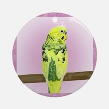 budgie4_tile Round Ornament