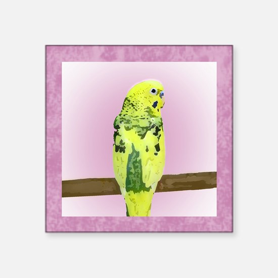 "budgie4_tile Square Sticker 3"" x 3"""