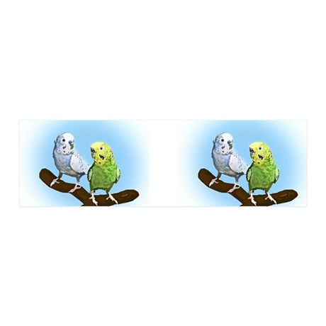 budgies_bev 20x6 Wall Decal