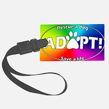 adoptpawprint_ovalrainbow Luggage Tag