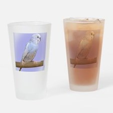 budgie3_ornament Drinking Glass