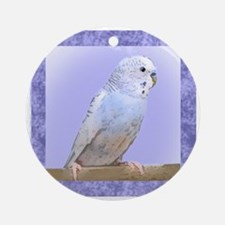 budgie3_tile Round Ornament