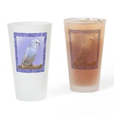 budgie3_tile Drinking Glass