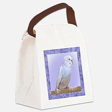 budgie3_tile Canvas Lunch Bag