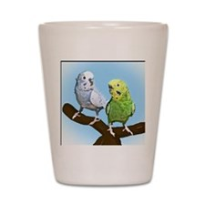 budgies_tile Shot Glass