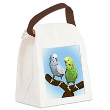 budgies_tile Canvas Lunch Bag