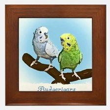 budgies_shirt Framed Tile