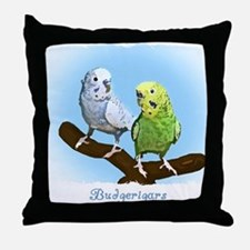 budgies_shirt Throw Pillow