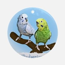 budgies_shirt Round Ornament