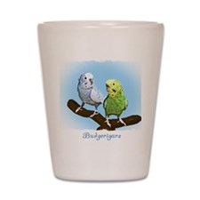 budgies_shirt Shot Glass