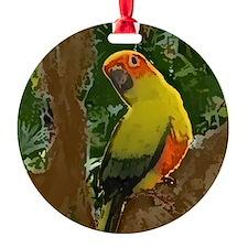sunconure_forest_button Ornament