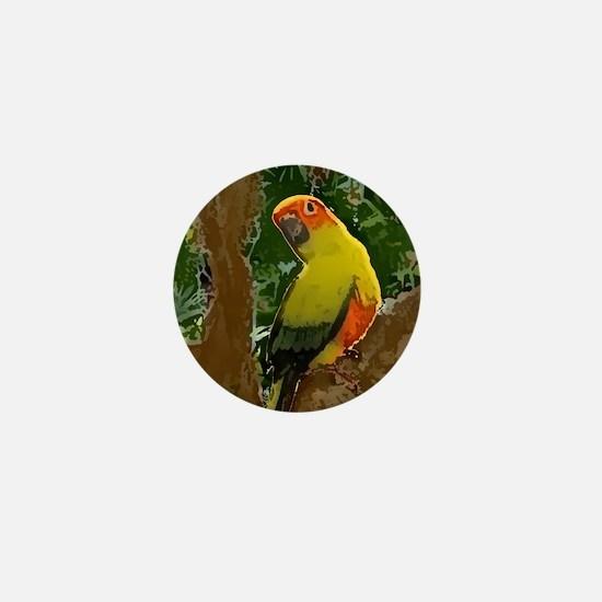 sunconure_forest_button Mini Button