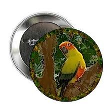 """sunconure_forest_ornament 2.25"""" Button"""