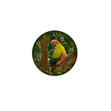 sunconure_forest_ornament Mini Button